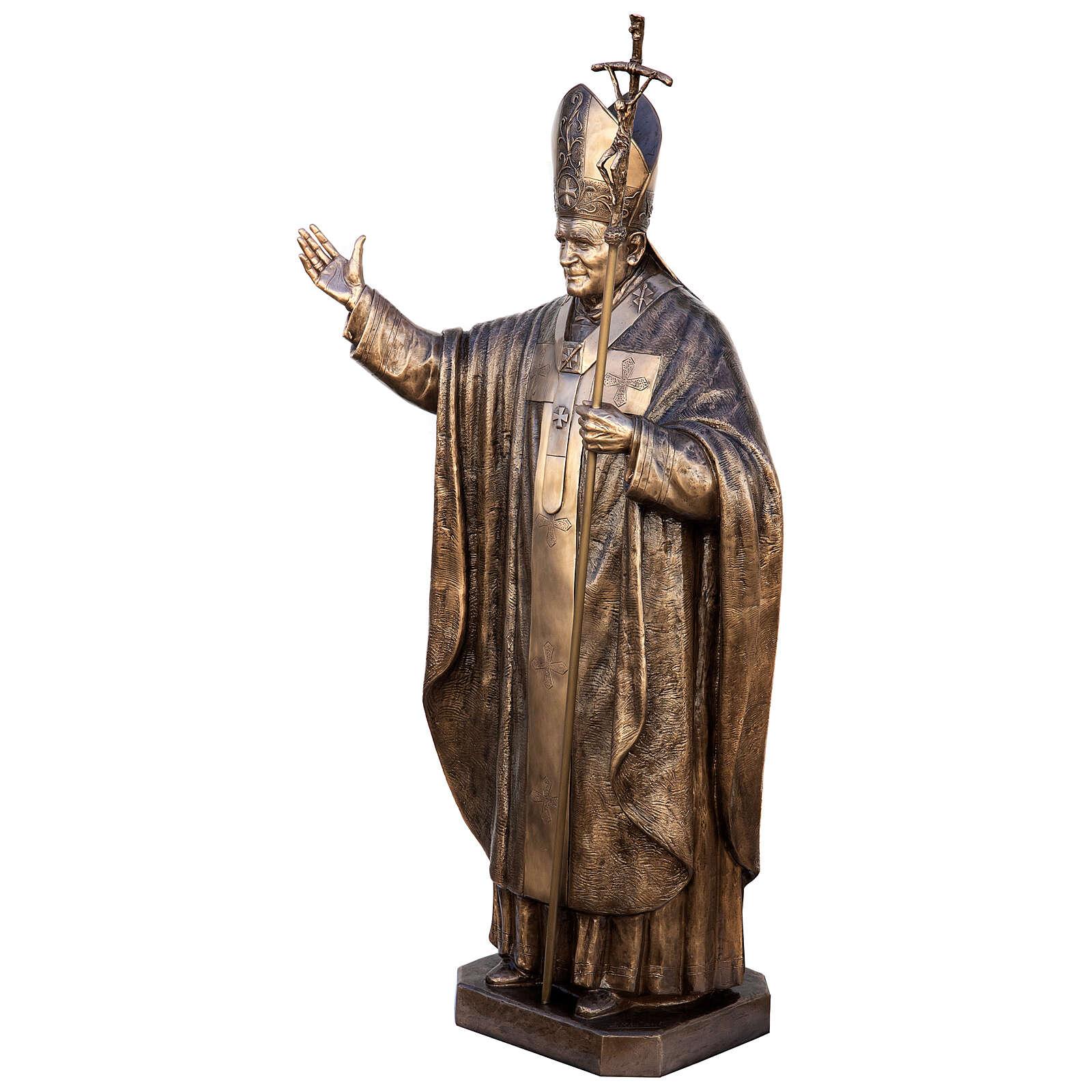 Statua Papa Giovanni Paolo II bronzo 215 cm per ESTERNO 4