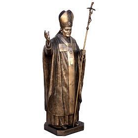Statua Papa Giovanni Paolo II bronzo 215 cm per ESTERNO s3