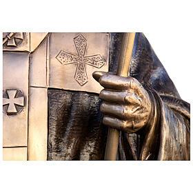 Statua Papa Giovanni Paolo II bronzo 215 cm per ESTERNO s4