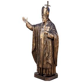Statua Papa Giovanni Paolo II bronzo 215 cm per ESTERNO s5