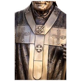Statua Papa Giovanni Paolo II bronzo 215 cm per ESTERNO s8