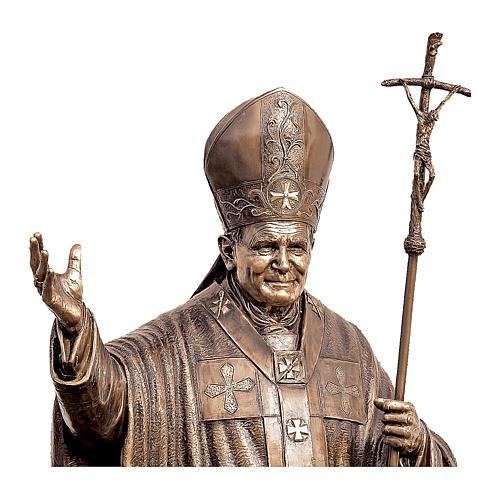 Statua Papa Giovanni Paolo II bronzo 215 cm per ESTERNO 2