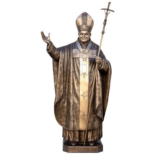 Statua Papa Giovanni Paolo II bronzo 215 cm per ESTERNO 1