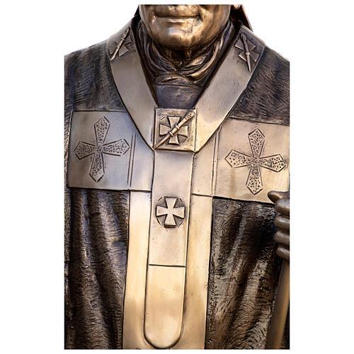 Statua Papa Giovanni Paolo II bronzo 215 cm per ESTERNO 8