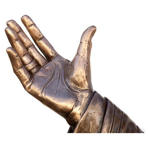 Statua Papa Giovanni Paolo II bronzo 215 cm per ESTERNO 9