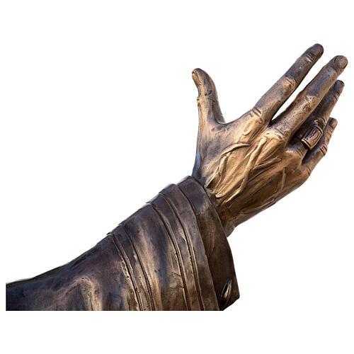 Statua Papa Giovanni Paolo II bronzo 215 cm per ESTERNO 11