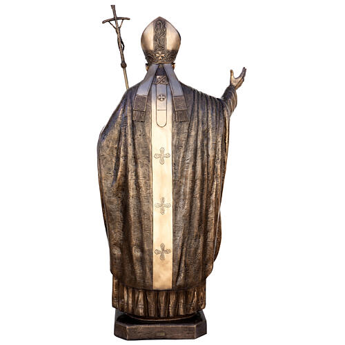 Statua Papa Giovanni Paolo II bronzo 215 cm per ESTERNO 12