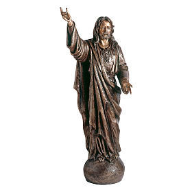 Statue of Lord Jesus in bronze 119 cm for EXTERNAL USE s1