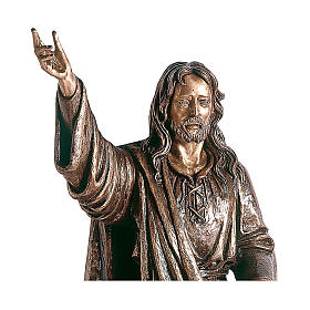 Statue of Lord Jesus in bronze 119 cm for EXTERNAL USE s2