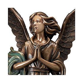 Statue Ange Gardien en bronze 65 cm POUR EXTÉRIEUR s2