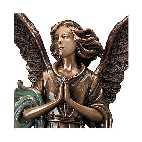 Statue Ange Gardien en bronze 65 cm POUR EXTÉRIEUR 2