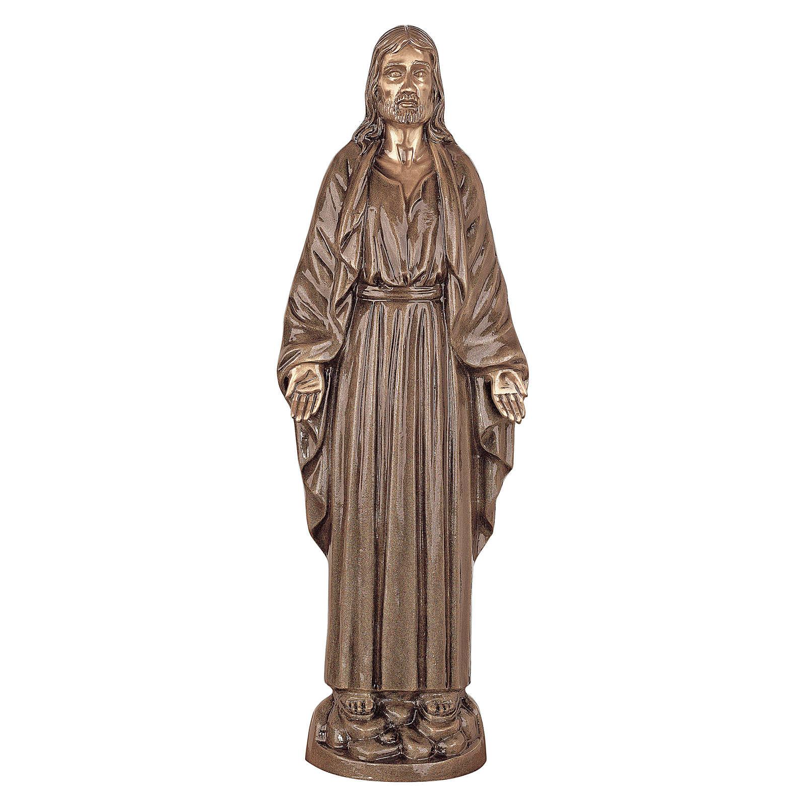 Statua Cristo Nostro Signore bronzo 60 cm per ESTERNO 4