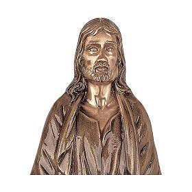 Statua Cristo Nostro Signore bronzo 60 cm per ESTERNO s2