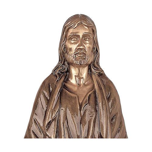 Statua Cristo Nostro Signore bronzo 60 cm per ESTERNO 2
