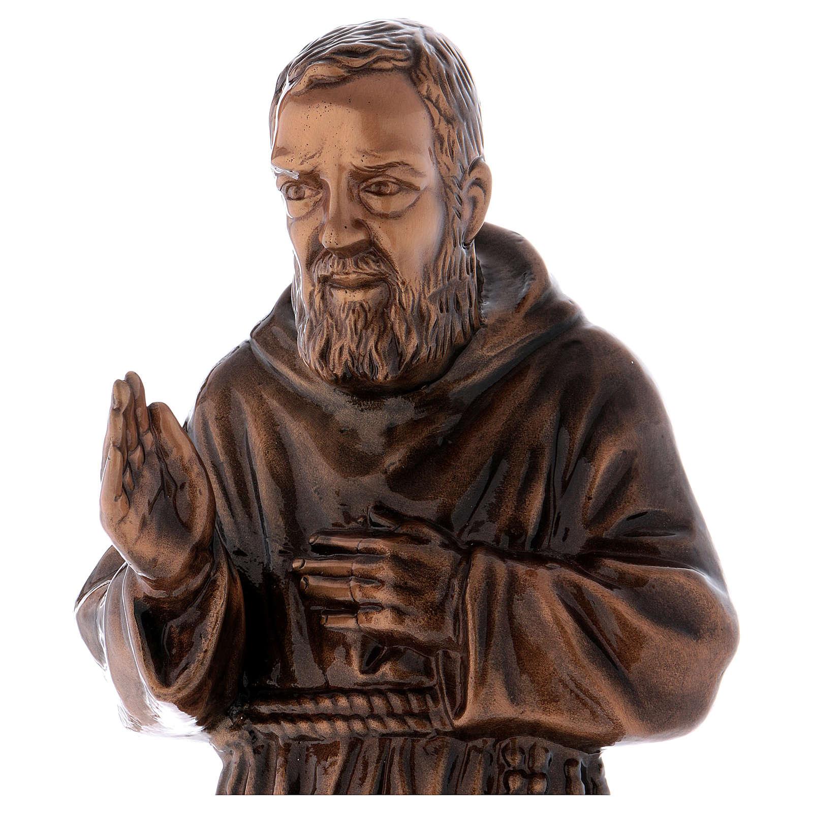 Statue Padre Pio bronze 60 cm POUR EXTÉRIEUR 4