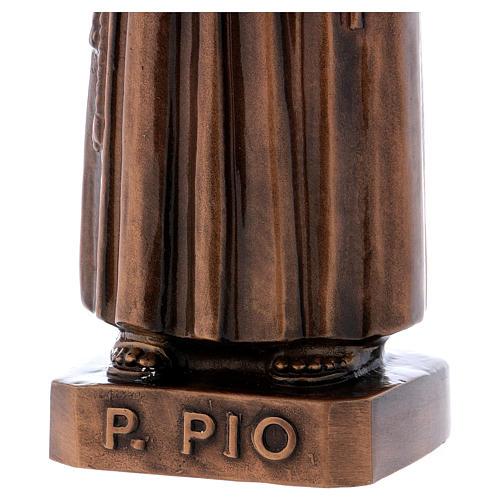 Statua Padre Pio bronzo 60 cm per ESTERNO 4