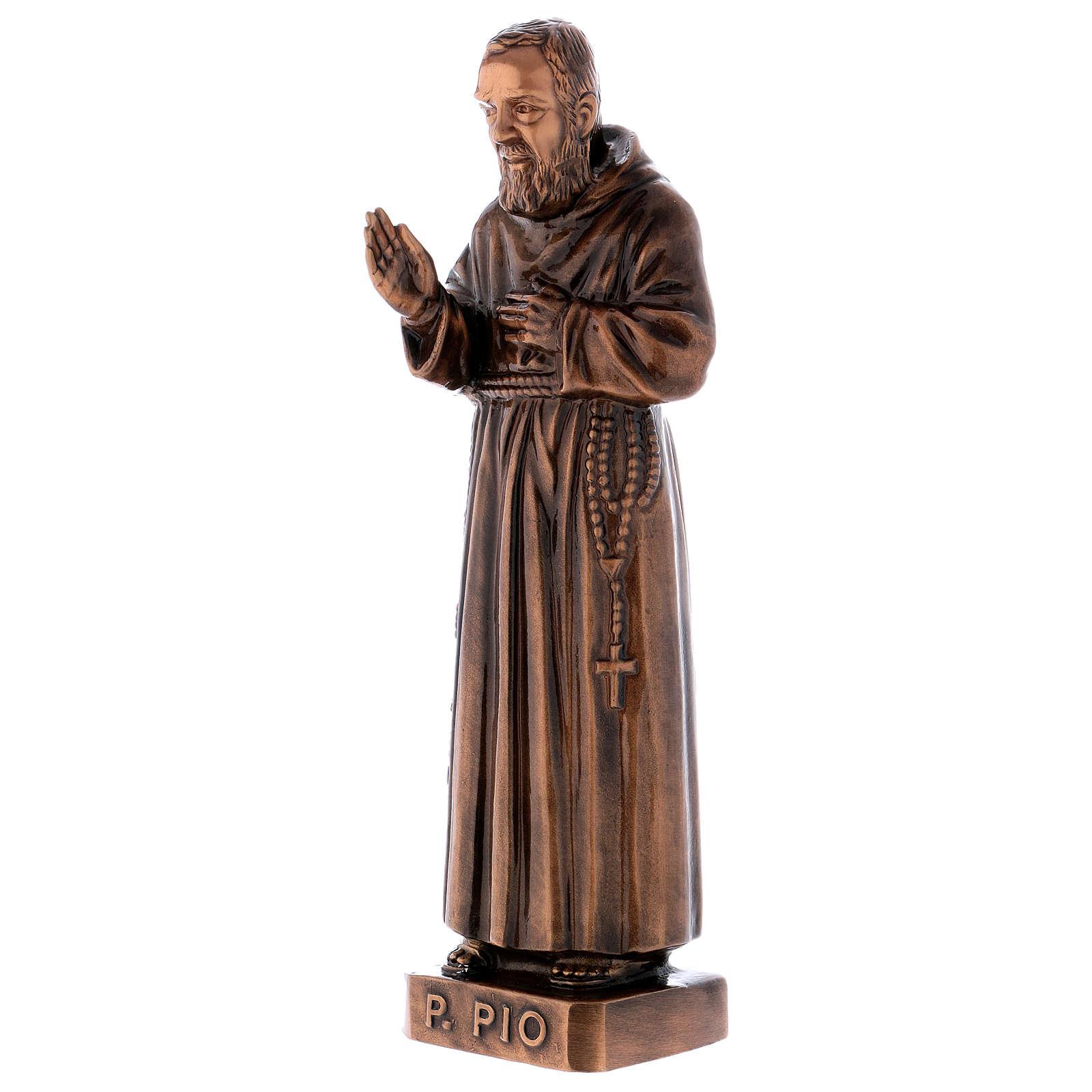 Figura Ojciec Pio brąz 60 cm na ZEWNĄTRZ 4