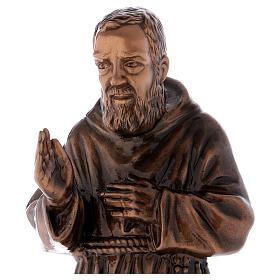 Figura Ojciec Pio brąz 60 cm na ZEWNĄTRZ s2