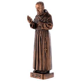 Figura Ojciec Pio brąz 60 cm na ZEWNĄTRZ s3