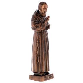 Figura Ojciec Pio brąz 60 cm na ZEWNĄTRZ s5