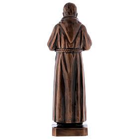 Figura Ojciec Pio brąz 60 cm na ZEWNĄTRZ s6