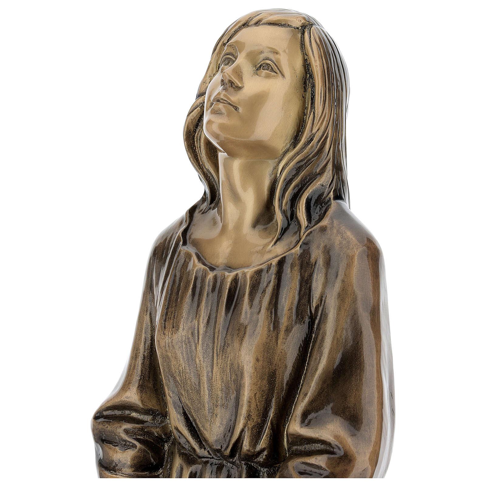 Statua donna in ginocchio bronzo 45 cm per ESTERNO 4