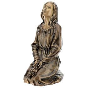 Statua donna in ginocchio bronzo 45 cm per ESTERNO s3