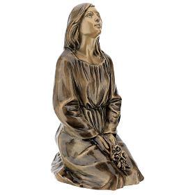 Statua donna in ginocchio bronzo 45 cm per ESTERNO s4