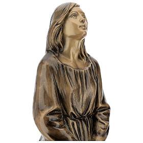 Statua donna in ginocchio bronzo 45 cm per ESTERNO s5