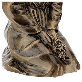 Statua donna in ginocchio bronzo 45 cm per ESTERNO s7