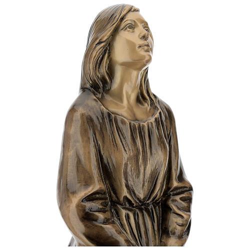 Statua donna in ginocchio bronzo 45 cm per ESTERNO 5