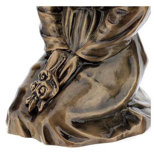 Statua donna in ginocchio bronzo 45 cm per ESTERNO 6