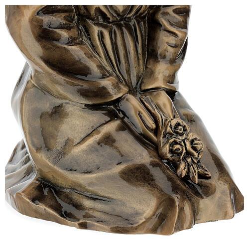 Statua donna in ginocchio bronzo 45 cm per ESTERNO 7