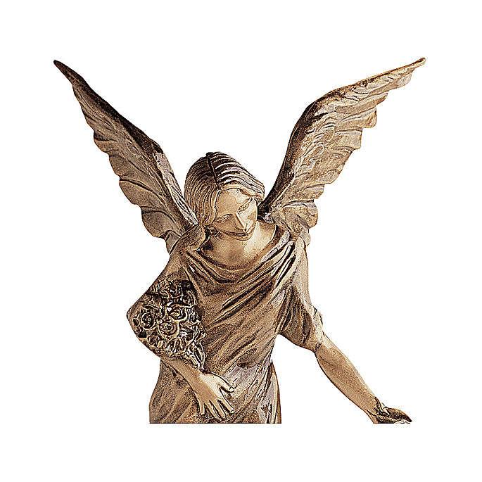 Statua angelo getta fiori in bronzo 55 cm per ESTERNO 4