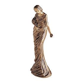 Statua bronzea Donna getta fiori 50 cm per ESTERNO s1
