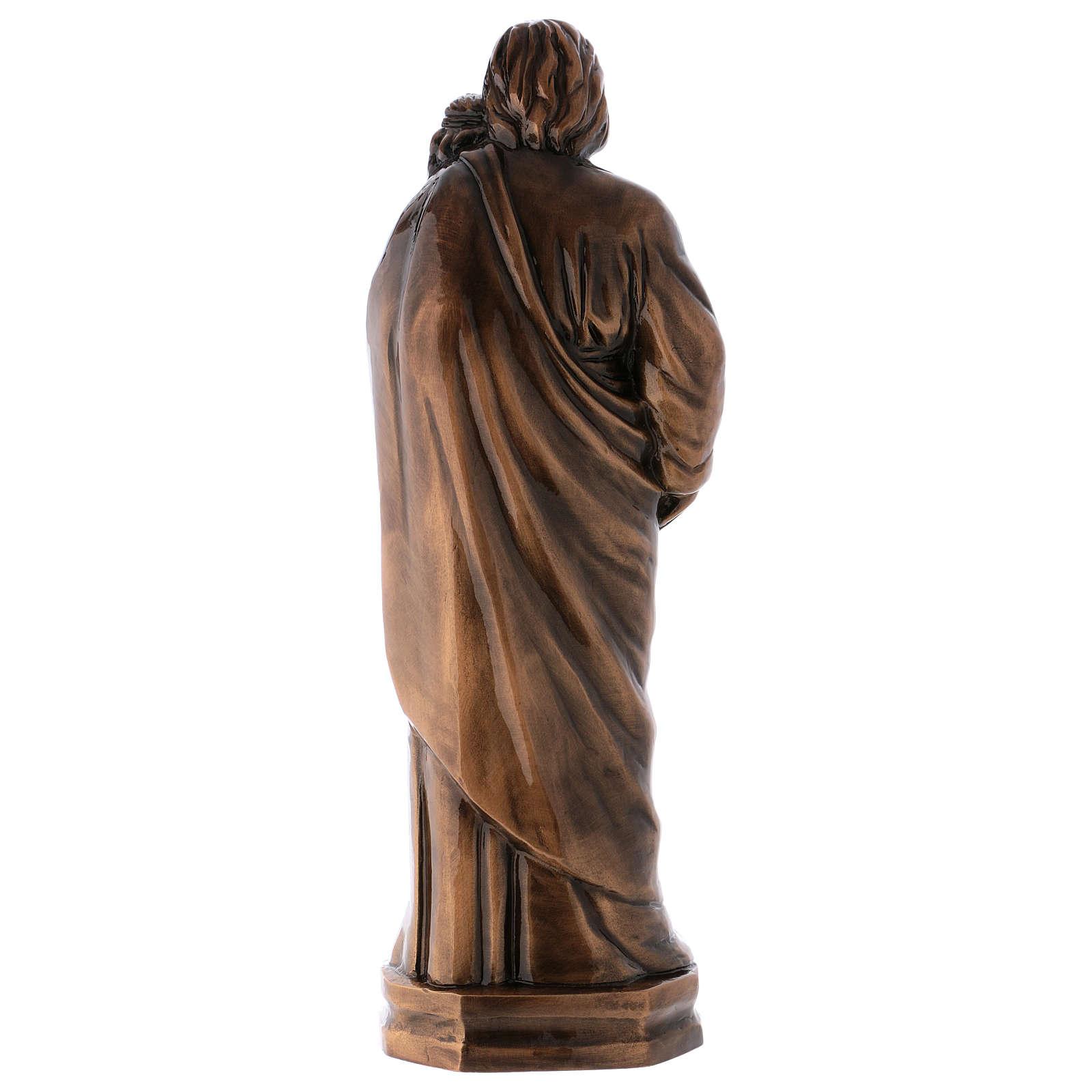 Estatua San José con Niño bronce 65 cm para EXTERIOR 4