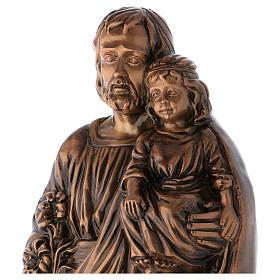 Estatua San José con Niño bronce 65 cm para EXTERIOR s3