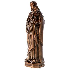 Statue St Joseph avec Enfant bronze 65 cm POUR EXTÉRIEUR s2