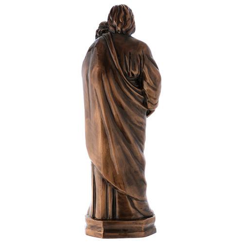 Statua S. Giuseppe con Bambino bronzo 65 cm per ESTERNO 4