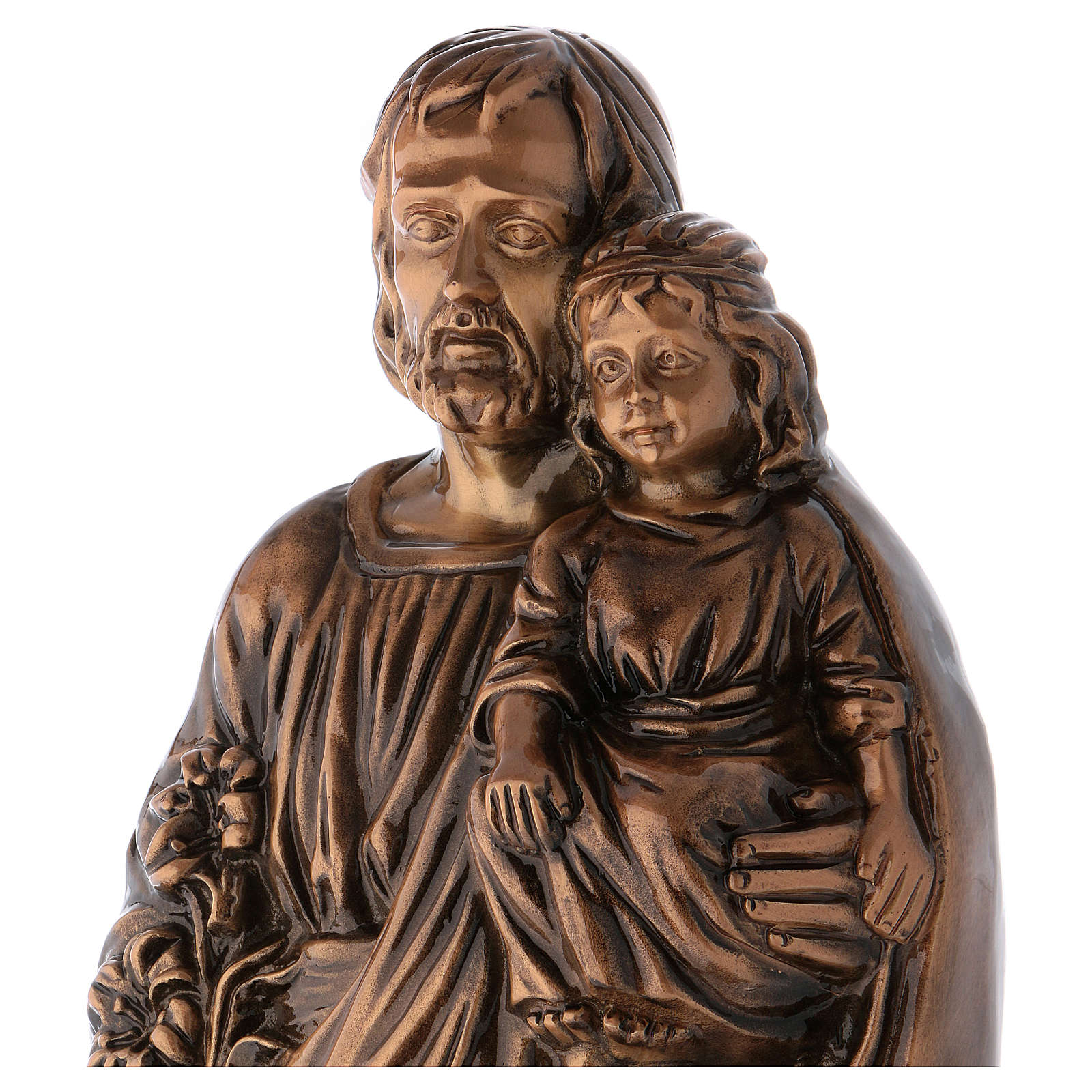 St Joseph with Child Jesus Bronze Statue 65 cm for OUTDOORS 4