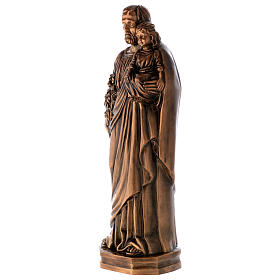 St Joseph with Child Jesus Bronze Statue 65 cm for OUTDOORS s2