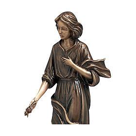 Statue jeune jetant des fleurs en bronze 40 cm pour EXTÉRIEUR s2