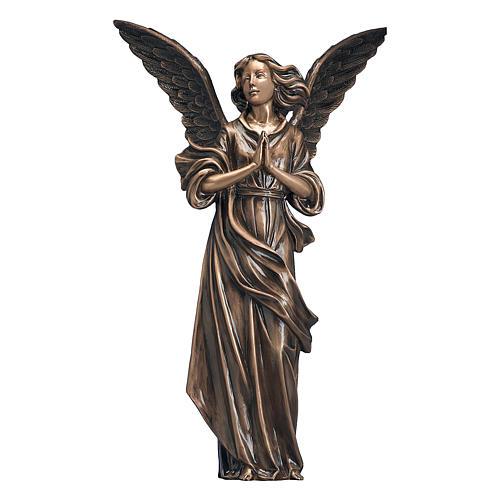 Statue Ange de Dieu bronze 65 cm POUR EXTÉRIEUR 1
