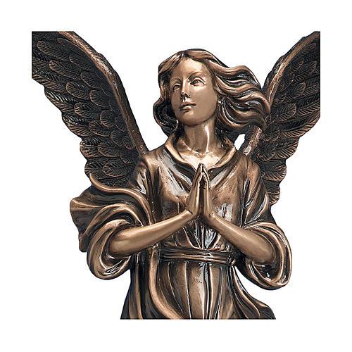 Statua Angelo di Dio bronzo 65 cm per ESTERNO 2