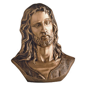Busto Cristo sofferente bronzo 40 cm per ESTERNO s1
