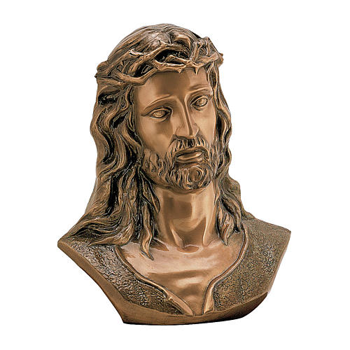 Bust of Ecce Homo in bronze 40 cm for EXTERNAL USE 1