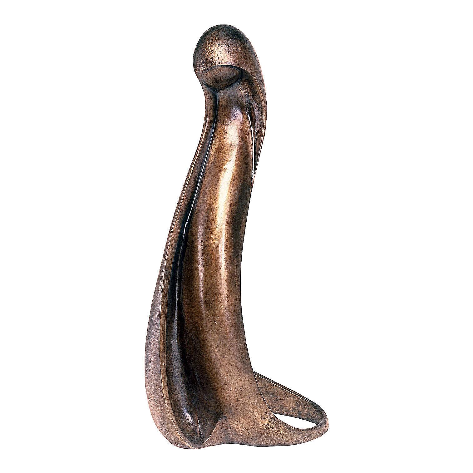 Statua Madonna stilizzata bronzo 125 cm per ESTERNO 4