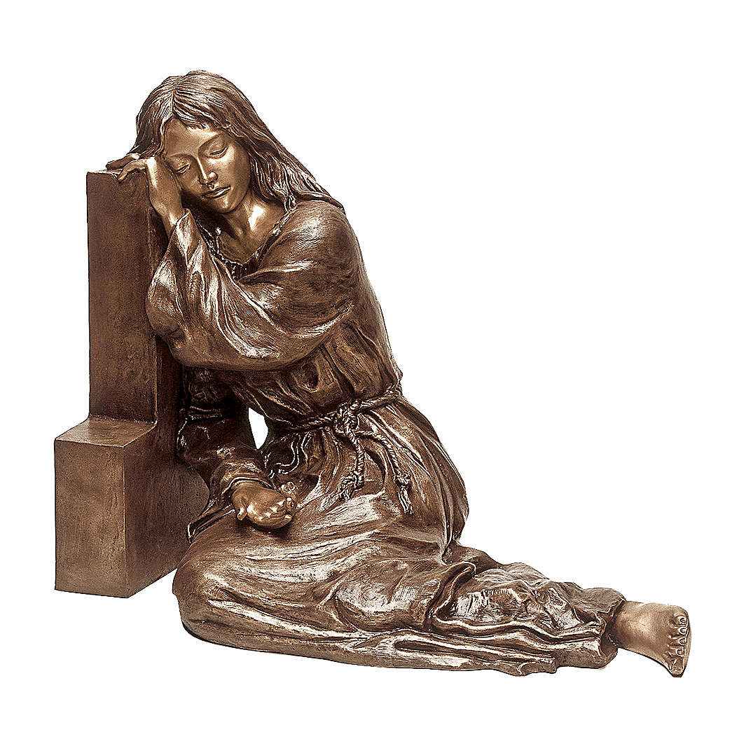 Statue of Mary Magdalene in bronze 80 cm for EXTERNAL USE 4