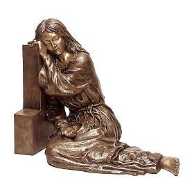 Statua Maria Maddalena bronzo 80 cm per ESTERNO