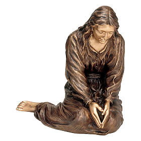 Statue of Mourning Woman in bronze 75 cm for EXTERNAL USE s1
